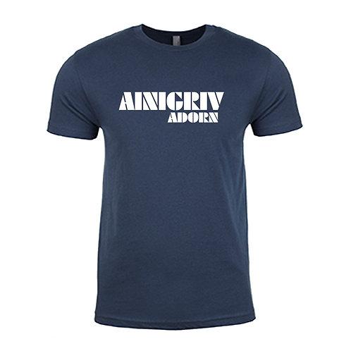 AINIGRIV ADORN T-SHIRT NAVY AND WHITE