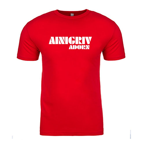 AINIGRIV ADORN T-SHIRT RED AND WHITE