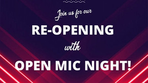 Re-Open Mic Night July 28th