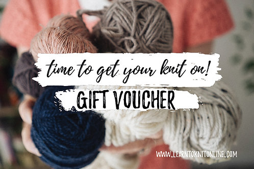 Gift Voucher: Beginners Knitting Course (Self Paced)