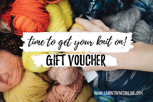 Gift Voucher: Beginners Knitting Course (Self Paced) & One-On-One Knit Surgery