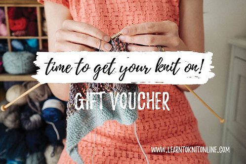 Gift Voucher: Beginners Knitting Course - Four Interactive Lessons
