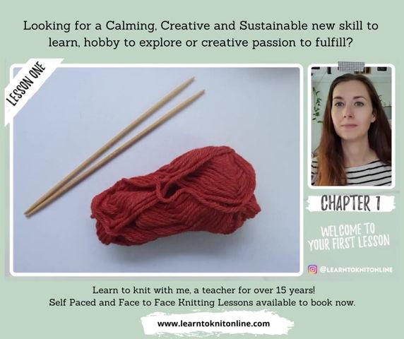 A Peek Into My Beginner Knitting Classes
