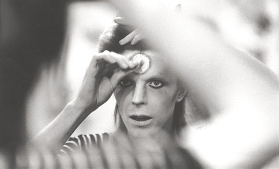 David Bowie, Makeup Close-Up. Last Ziggy Stardust United Kingdom's Tour, 1973.