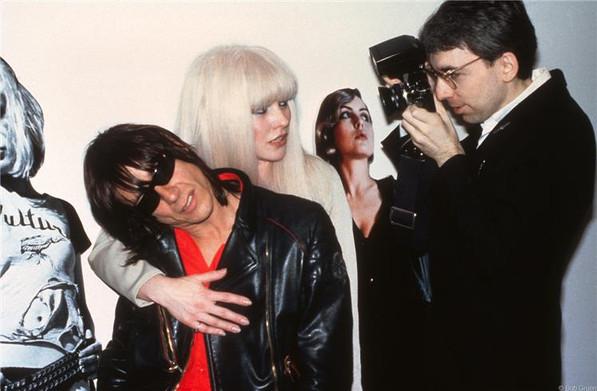 Debbie Harry, Chris Stein and Iggy Pop. New York, 1982
