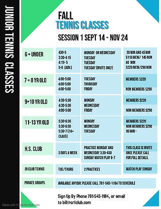 Copy of Fitness Classes Schedule - Made