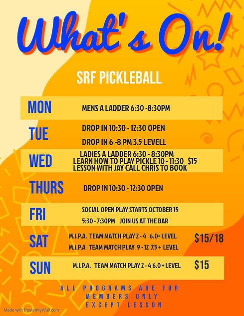 SRF Pickleball Poster