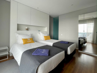 Deluxe Bedroom, twinbeds, Praia de Santo