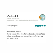 Guestbook, Praia de Santos, Exclusive Vi