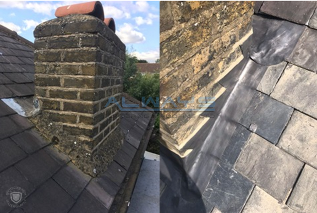 Step Lead Flashings - Before and After W