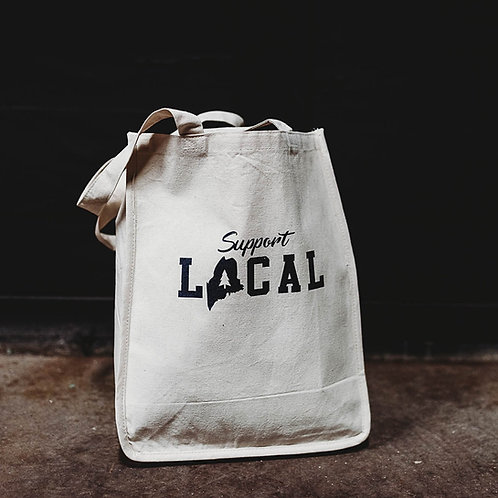 Support Local Large Canvas Tote