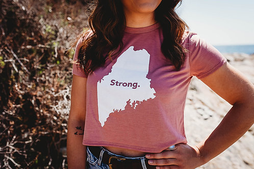 Maine Strong Cropped Tee