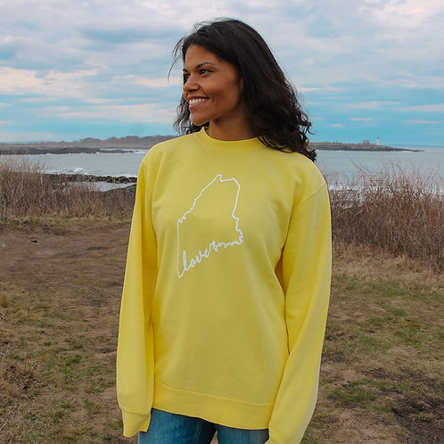 Maine Love Unisex Pigment Dyed Sweater