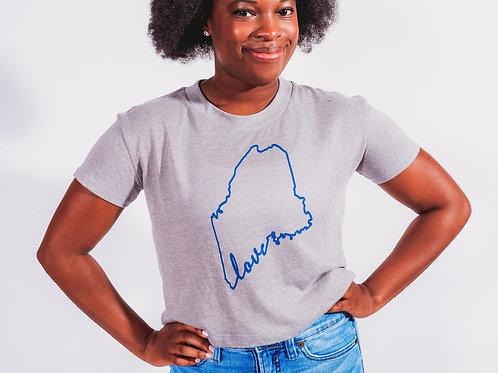Maine Love Cropped Shirt