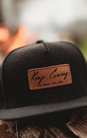 Keep Going; Leather Patch Snapback