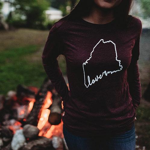 Maine Love Fall Unisex Longsleeve Tee