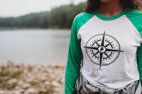 Unisex Compass 3/4 Shirt
