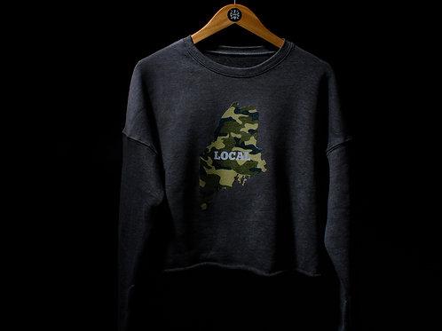 Local Camo Cropped Sweater