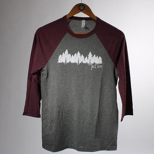 Just Live Unisex 3/4 Shirt