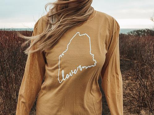 Maine Love Dyed Unisex LS