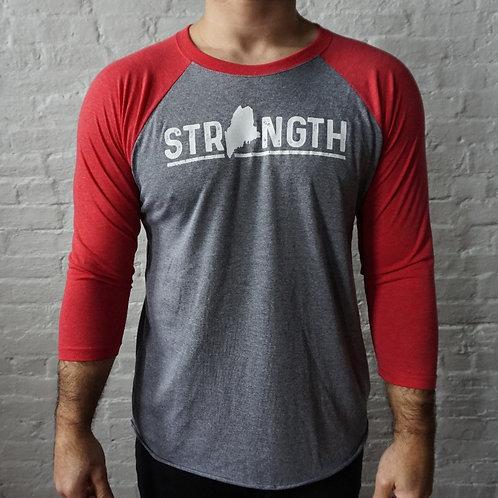 Men's Strength Maine -3/4 Baseball Shirt