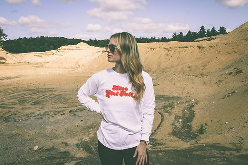 Thicc Girl Fall Dyed LS Shirt