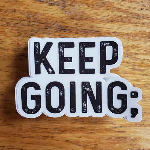 Keep Going; Sticker