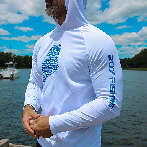207 Series-Maine State Unisex Cool Dry Hoodie