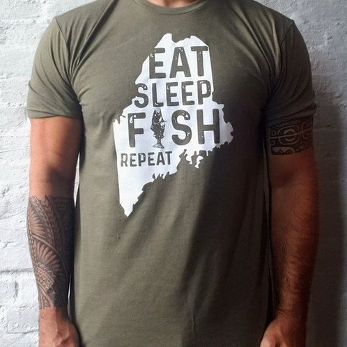 Eat Sleep Fish Repeat Men's Shirt