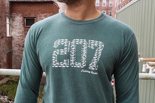 207 Kid Fishing Unisex LS Dyed Shirt