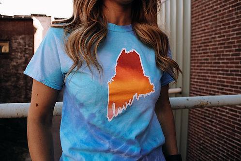 Maine Love Summer Blend Tie Dye Shirt