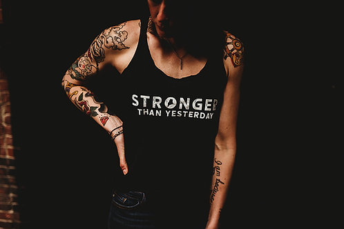 Stronger Than Yesterday Racerback