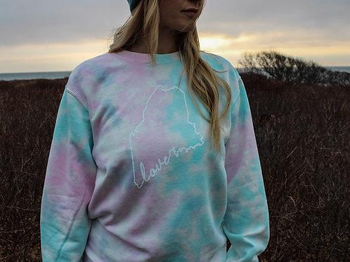 Maine Love Unisex Tie Dye Sweater