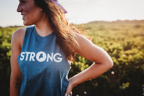 Strong Maine Cropped Racerback