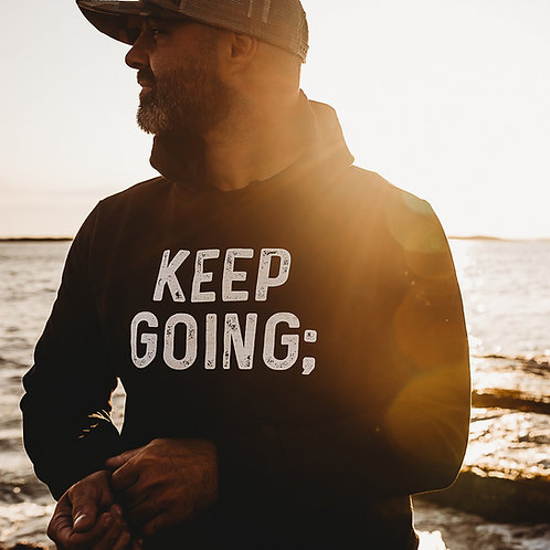 Men's Keep Going; Hoodie V2