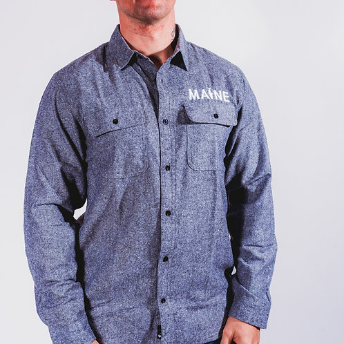 MAINE Fishing Men's Solid Flannel