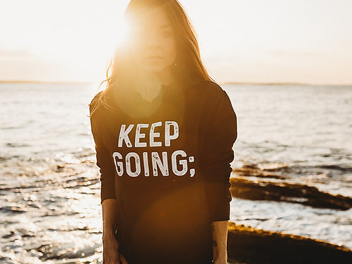 Women's Keep Going; Hoodie V2