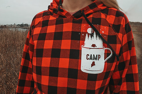 Camp Mug Plaid Unisex Hoodie