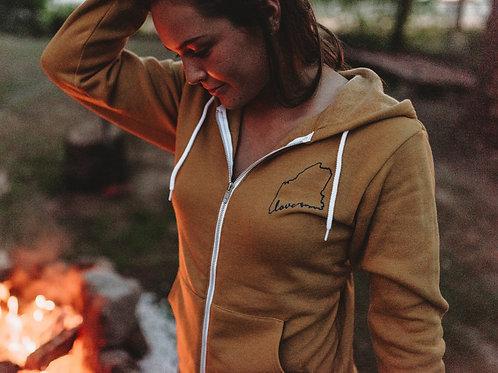 Women's Maine Love Fleece Zip Hoodie