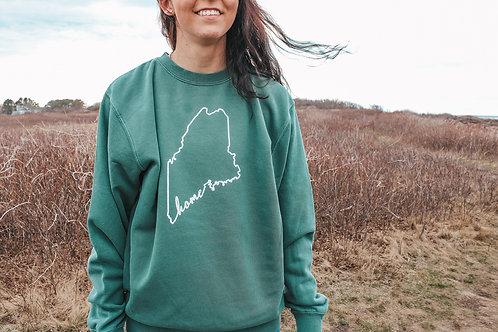 Always Home Unisex Dyed Crewneck Sweater