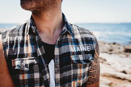MAINE Fishing Flannel (Sleeve option)