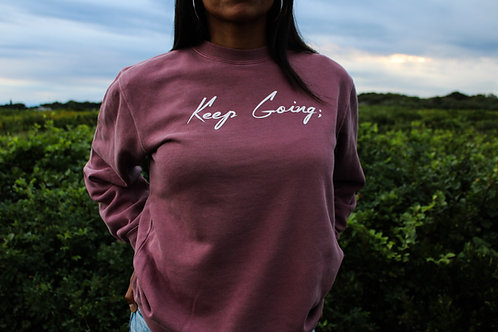 Keep Going; V1 Unisex Dyed Sweater