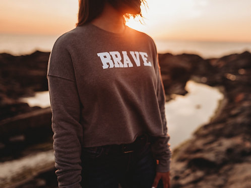 Brave; Cropped Sweater