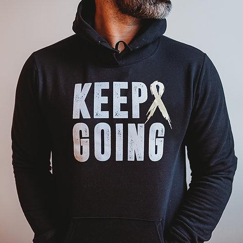 Warrior/Keep Going Men's Hoodie (Mulicolor)