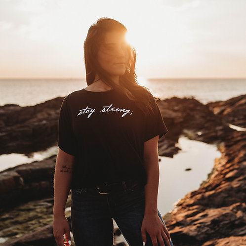 Stay Strong; Cropped Shirt
