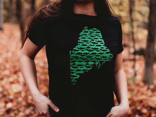 Maine State Women's Fishing Shirt