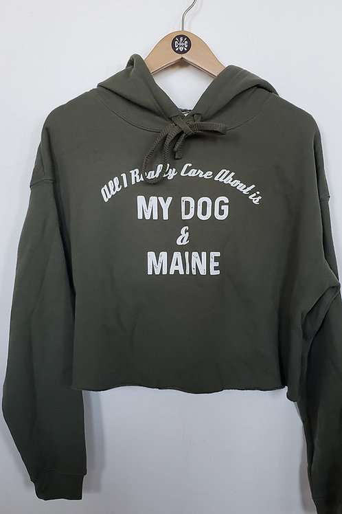 My Dog & Maine Cropped Sweatshirt
