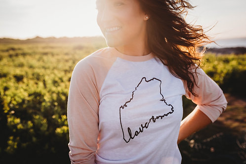 Maine Love 3/4 Shirt