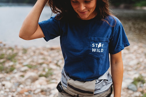 Stay Wild Unisex  Pocket Shirt