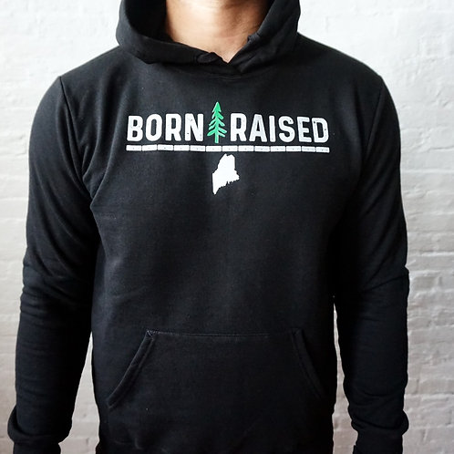 Born & Raised Men's Pine Tree Hoodie